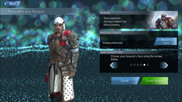 Assassin's Creed Identity Memilih Assassin